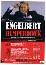 Engelbert Humperdinck   Concert Tour 2011   Playbill  Concert  Flyer  RARE
