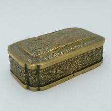ANTIQUE INDIAN BRASS PEACOCK DESIGN TOBACCO BOX