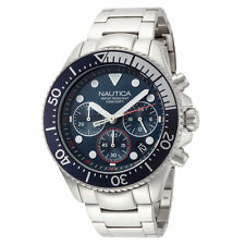 Nautica Men's NAPWPC006 Wetsport 44mm Blue Dial Stainless Steel Watch
