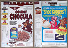Vintage 1985 1980's General Mills Count Chocula Cereal Box Series 93 Monster