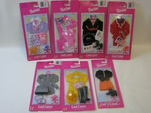 1997 Mattel Barbie 6x Cool Career Outfits 68617 MOC #PC332