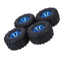Rc Truck Blue Wheels & Tires for Traxxas Rustler Stampede Bigfoot Grave Digger