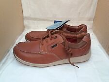 Clarks Javery Time Tan Leather Casual Lace Up Shoes With Actve Air Vent - UK 8H