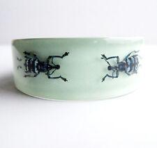 Unique designer blue lucite bracelet with real beetles Kolos Designs
