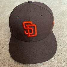 New Era 59FIFTY San Diego Padres Fitted Cap Orange Wordmark Logo (SIZE 7 1/4)
