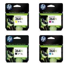 4 Set HP 364XL Black Cyan Magenta Yellow Genuine Original 364 Ink Multi Combo