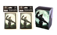 100 Werewolf MTG Double Matte Image Sleeves plus Deck Box For Pokemon, Magic