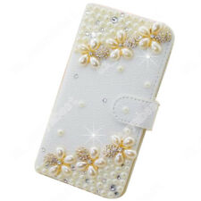 Fancy Rhinestone Bling Case Luxury Wallet Flip PU Leather Cover For iPhone