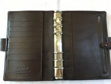 FILOFAX/ORGANISER-PICCADILLY PERSONAL-Very RARE MAHOGANY Luxury Leather