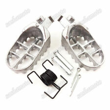 Aluminum Footrest Footpegs Silver For Pit Dirt Motor Bike Yamaha TW200 PW50 PW80