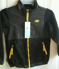 New with tags SKECHERS kids Jacket 4t small toddler's 4T Black Yellow Outerwear