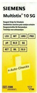Siemens Multistix 10 SG Reagent Urine Test Strips x100 EXP 31/05/21
