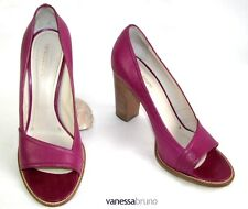 VANESSA BRUNO - SANDALES TALONS 9.5 CM TOUT CUIR ROSE 41 - NEUF BOITE