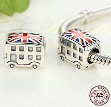 925 Sterlingsilber Charm Charms London Bus Anhänger Element Bettelarmband auto