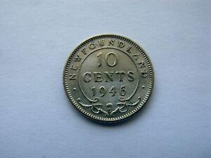 1946 Newfoundland 10 Cent - NICE - Mintage 38,400