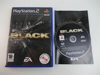 BLACK  PLAYSTATION 2 GAME COMPLETE (TESTED AND WORKING) PAL 16+