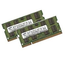 2x 2gb 4gb Samsung portátil de memoria RAM ddr2 800 MHz pc2-6400s