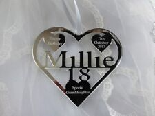 18TH 16TH  BIRTHDAY GIFT PERSONALISED WITH NAME ,MILLIE , BIRTH DATE, KEEPSAKE