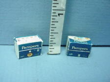 """Miniature Pampers Diapers (2) #59993 - No Contents - 1/2"""" (1:24) Hudson River"""