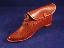 Ancien jouet porte monnaie enfant chaussure bottine miniature trompe l'œil 1920