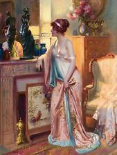 "Nude Woman in Japanese Kimono 8.5x11"" Photo Print Delphin Enjolras Classic Art"