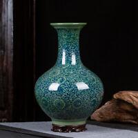 Chinese old porcelain vases Green Glazed Porcelain Vase porcelain