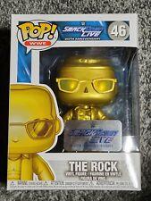 Funko Pop Wwe The Rock Metallic Gold # 46 20th Anniversary Exclusive Figure