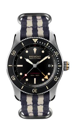 AUTHORIZED DEALER Bremont S302 Supermarine Nato Strap Black Dial Automatic Watch