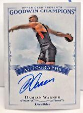 Damian Warner 2016 UD Goodwin Champions on-card Autograph Auto - Decathlon