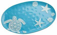 Platter Nautical Ceramic Serving Dish Plate Ocean Starfish Turtle Coastal