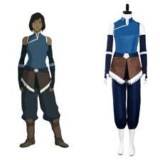 The Legend of Korra Season 4 Korra Halloween Cosplay Costume Top Pants Outfit