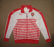 Puma Arsenal Anthem soccer jacket New Medium Nwt tags White/Red $85