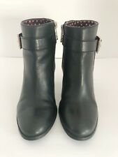 Tommy Hilfiger Womens Size 7M Vales Black Zippered High Heel Ankle Boots Booties
