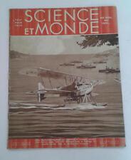 JDN Livre SCIENCE ET MONDE n 16-  3 9/1931 aviation bateaux guerre autobus