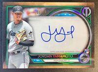 2020 Topps Tribute JORDAN YAMAMOTO Autograph Green Parallel SP /99 Miami Marlins