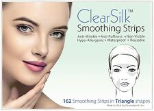 ClearSilk Smoothing Strips (Triangle 162 Ct) Facial Wrinkle Repair & Prevention