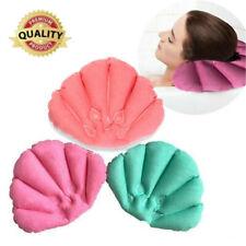 1px Luxury Home Spa Inflatable Bath Pillow Cup Shell Shape Neck Bathtub Cushion