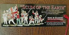 "King & Country's ""VIVE EMPEREUR & SCUM OF THE EARTH"" 7-1/2"" x 2-1/2"" CARD-New"