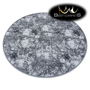 """Amazing Modern fitted carpet RUG """"CONCRETE"""" circle stone GREY Best Quality"""
