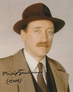 """Philip Jackson in person signed 10"""" x 8"""" photograph - Poirot - Japp - K475"""