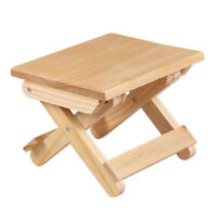 Folded Pine Wood Stool Portable Solid Wood Outdoor Fishing Seat kitchen Bedroom