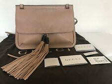 bb7ef8cb1b1d30 GUCCI Cellarius Camelia Leather Cross Body Tassel Shoulder Handbag