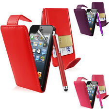 Flip Case Pouch PU Leather Cover For Apple Iphone 5 / 5S Mobile