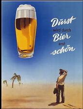 Nostalgic Art Magnet für Kühlschrank 6 x 8 Durst wird durch Bier erst schön
