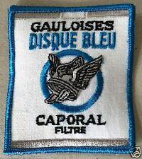 Vintage Sew-on Patch Gauloises Discque Bleu Caporal Filter Cigarettes