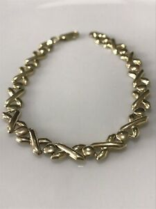 9ct gold 375 Bracelet, 5.3g,7.7 Inches