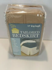 """Todays Home Tailored Bed Skirt King 78"""" X 80"""" + 14"""" Drop Mocha"""