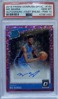 "ROOKIE! 2018-19 Mo Bamba PINK Optic Fast Break! (Auto/RC) (#""d/20) PSA10!"