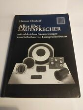 Buch Alles über Lautsprecher von Oberhoff Bauanleitungen zum Selbstbau