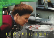 TC Star Trek Voager Season 1 Series 2 Neelix's Scratch N Sniff Recipes Card R2